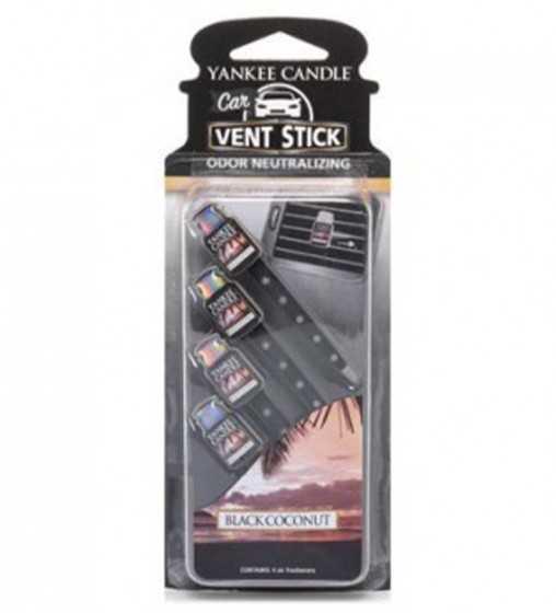 Noix de coco noire - Vent Stick Car Jar Yankee Candle - 1