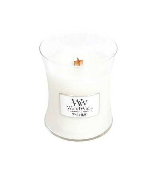 Teck blanc - Moyenne Jarre Wood Wick - 1