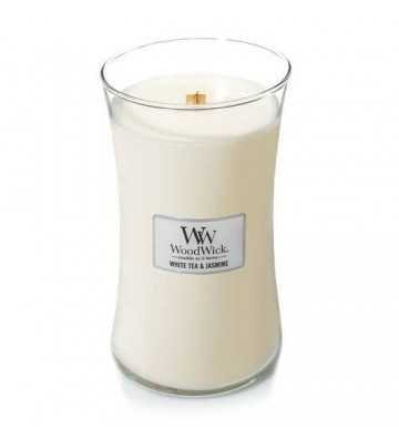 Thé blanc & Jasmin - Grande Jarre Wood Wick - 1