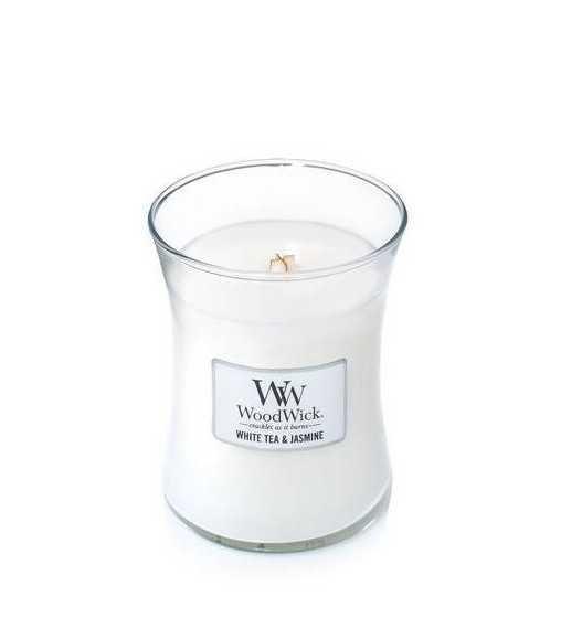 Thé blanc & Jasmin - Moyenne Jarre Wood Wick - 1