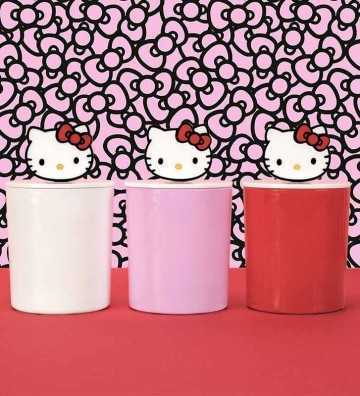 Hello Kitty - Jarre Rouge avec Couvercle