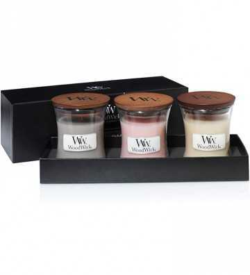 Coffret 3 mini Jarres - Les best sellers Wood Wick - 1
