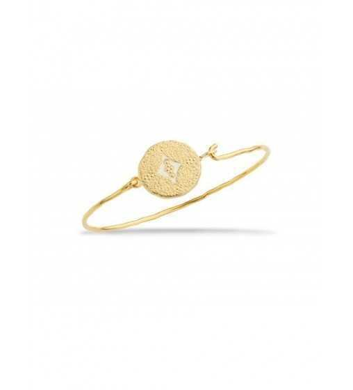 Bracelet Pondicherry Blanc & Or - Mya Bay