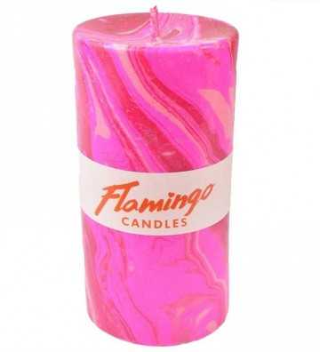 Disco Inferno - Bougie Marbre Flamingo Candles - 1