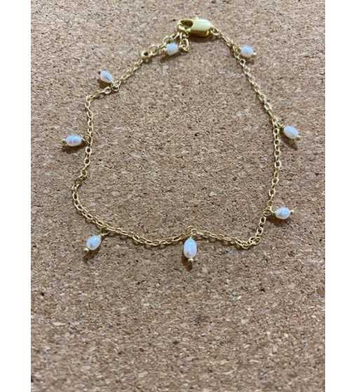 Bracelet Or et perles À la Collection - 1