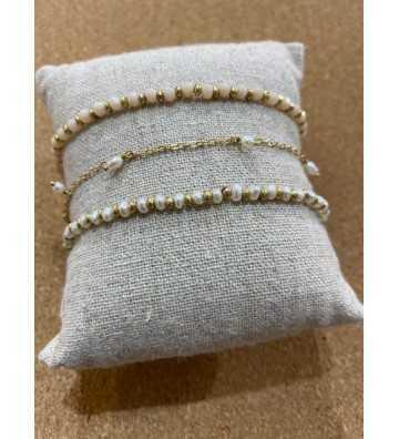 Bracelet Or et perles À la Collection - 2