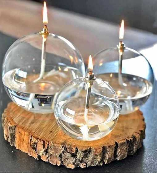 Boule 13 cm - Lampe à Huile Peri Design - 1