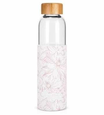 Bouteille en verre Hibiscus