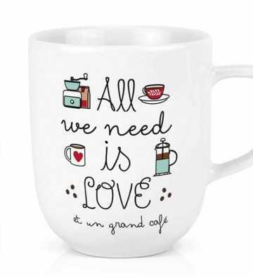 Maxi tasse All we need - Café Créa-Bisontine - 1