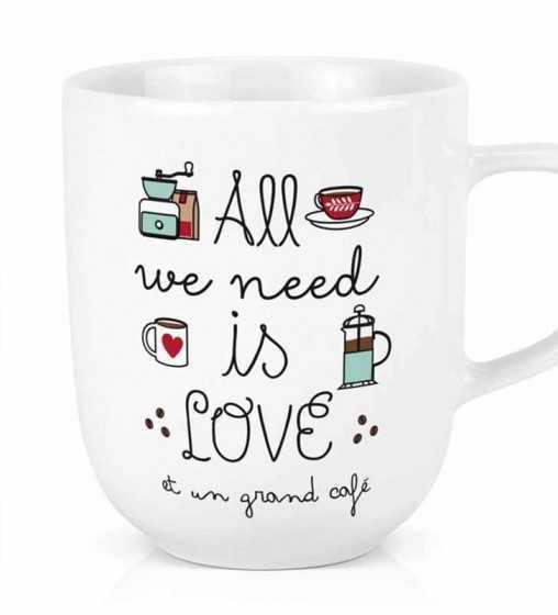 Maxi tasse All we need - Café Créa-Bisontine - 1