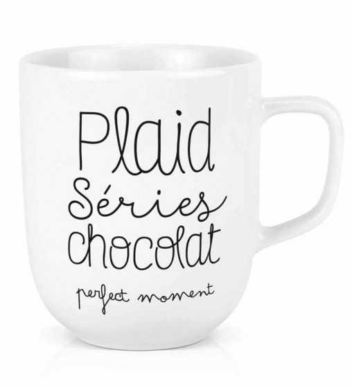 Maxi tasse Plaid, séries, chocolat Créa-Bisontine - 1