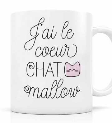 Mug J'ai le coeur Chat-Mallow Créa-Bisontine - 1