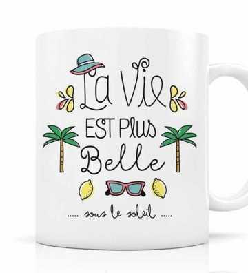 Mug La vie est plus belle sous le soleil Créa-Bisontine - 1