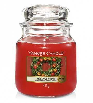 Couronne de Pommes Rouges - Moyenne Jarre Yankee Candle - 1