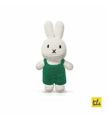 Peluche Miffy Salopette Verte Just Dutch - 1