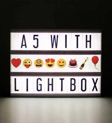 Lightbox A5 Noire Locomocéan - 1