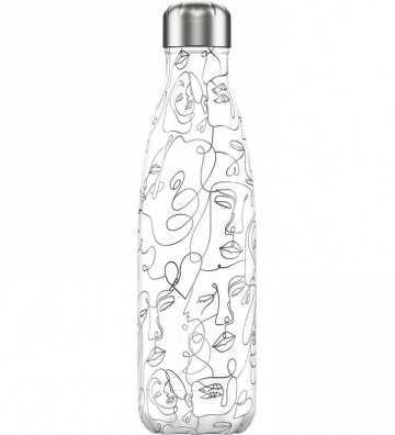 Bouteille Line Art Faces 500ml Chilly'S Bottle - 1