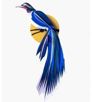 Oiseau du Paradis Flores - Décoration Murale Studio Roof - 1