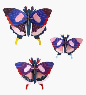Pack de 3 Papillons Machaon - Décoration Murale Studio Roof - 1