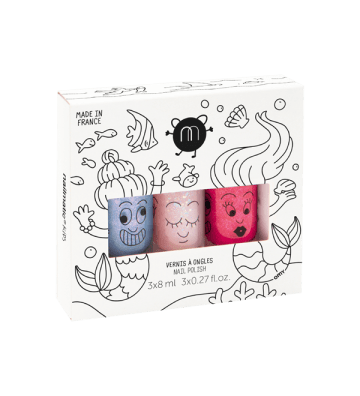 Coffret 3 vernis Mermaid Nailmatic - 1