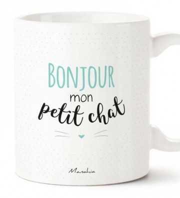 Bonjour Mon Petit Chat Bleu - Mug