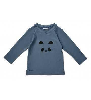 Tee shirt Anti Uv Panda Bleu Liewood - 1