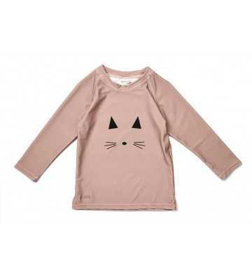Tee shirt Anti UV Chat Rose Liewood - 1