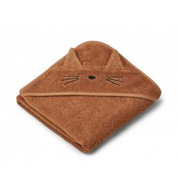 Sortie de bain chat terracotta Liewood - 1