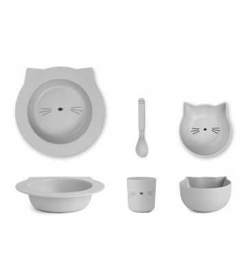 Bamboo set Baby Chat Gris Liewood - 1