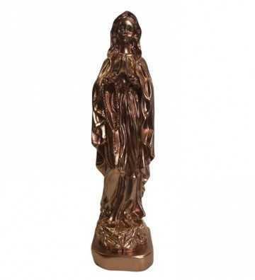 Statuette Marie Cuivre J'ai vu la vierge - 1