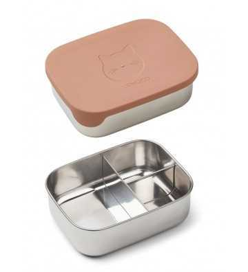 Lunchbox Metal et silicone Rose Liewood - 1