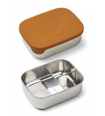 Lunchbox Metal et silicone Moutarde Liewood - 1