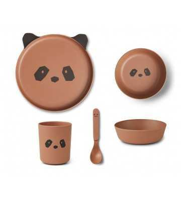 Bamboo Set Panda Tuscany Rose Liewood - 1