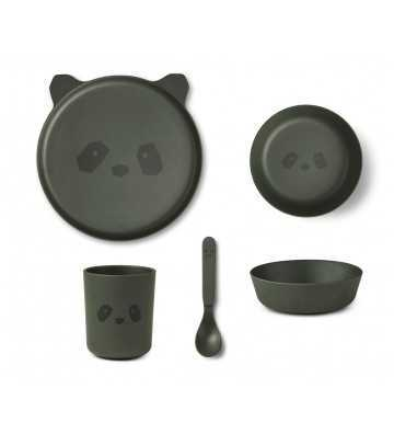 Bamboo Set Panda Hunter Green Liewood - 1