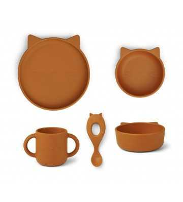 Silicone set repas Cyrus Chat Moutarde Liewood - 1