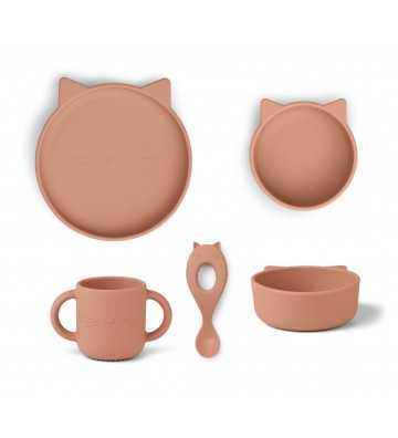 Silicone set repas Chat Rose Liewood - 1