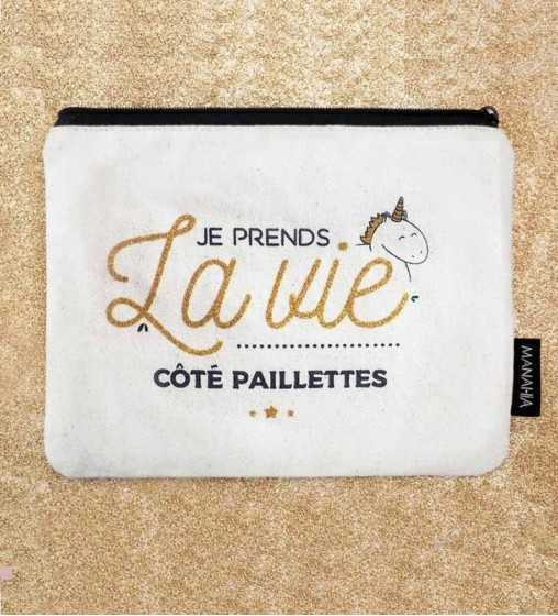 Je prends la vie Côté Paillettes - Pochette Manahia - 1