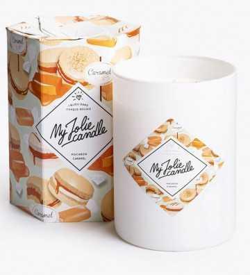Macaron Caramel - Bougie-Bijou avec Bracelet Argent My Jolie Candle - 1