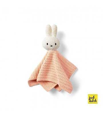 Doudou maille Miffy Rose