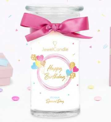 Happy Birthday New - Bougie-Bijou avec Boucles d'oreilles Jewel Candle - 1