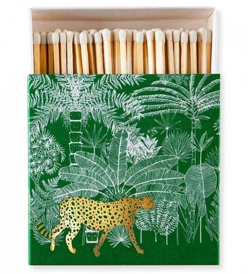 Boîte d'Allumettes Cheetah Verte Archivist - 1