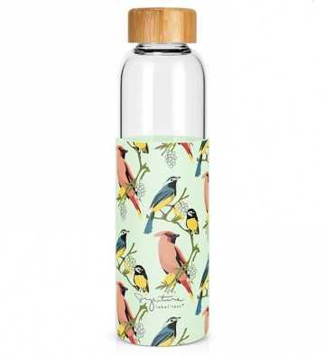 Bouteille en verre Oiseaux - 500ml Créa-Bisontine - 1