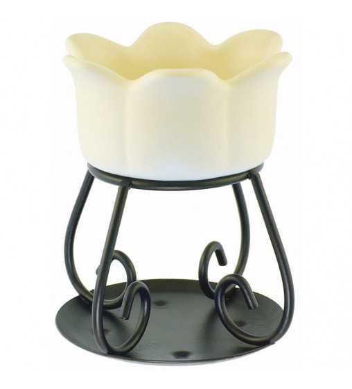 Petal Bowl Beige - Brûleur Yankee Candle - 1