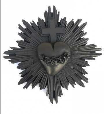 Ex-Voto Coeur Noir J'ai vu la vierge - 1