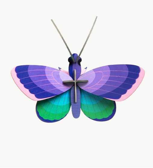 Blue Copper Butterfly - Décoration Murale Studio Roof - 1