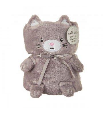 Couverture bébé Chat gris