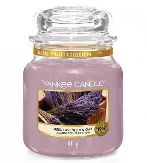 Lavande Séchée et Chêne - Moyenne Jarre Yankee Candle - 1