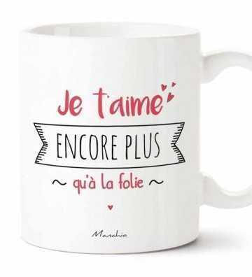 Je t'aime Encore Plus qu'à la Folie - Mug Manahia - 1