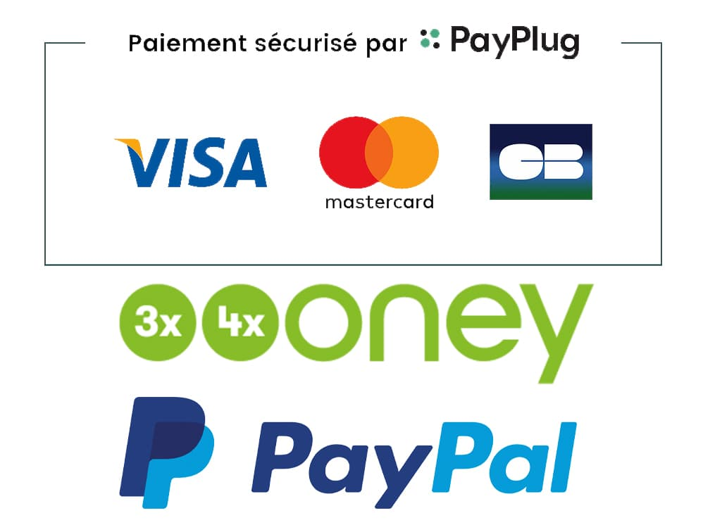 paiements sécurisés par Paypal et Payplug